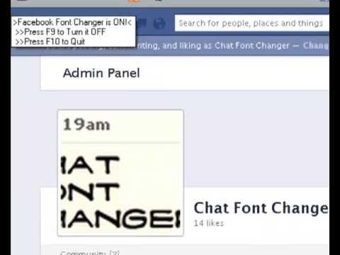 Facebook Chat Font Changer Youtube