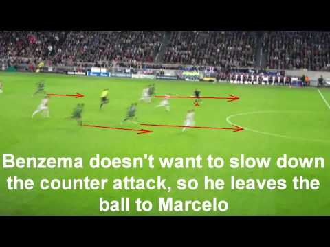 Real Madrid counter attack analysis (against Ajax)