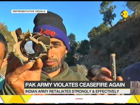Pakistan army violates ceasefire in Jammu & Kashmir