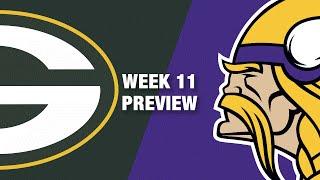 Packers vs. Vikings Preview (Week 11) | NFL