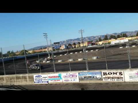 Petaluma Speedway 9-10-16 Mark Washington-1st warm up race