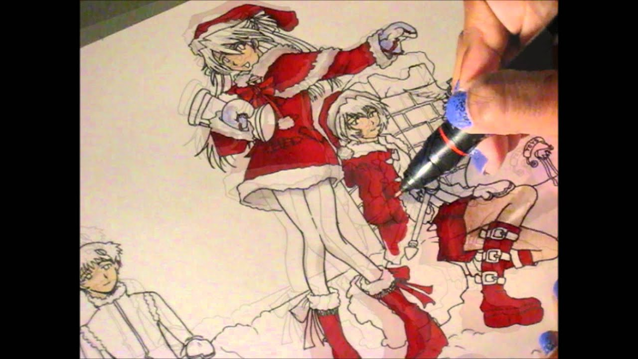 An Evangelion Christmas ^_^ ~ colored with Prismacolor Markers ...