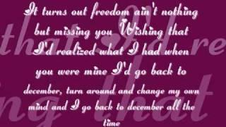 Taylor Swift- Back to December lyrics