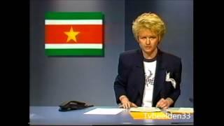 NOS - 8 Uur Journaal met Elleke van Doorn.  (Zondag 27-03-1988)