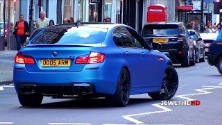 Matte Blue 2013 BMW M5 F10 Accelerations & Downshifts! Exhaust SOUNDS!