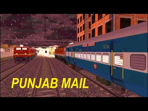 Punjab Mail in Indian Train Simulator by Sumit Mehrotra