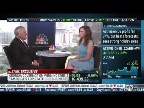 Gov. Nathan Deal trailing Jason Carter in the polls (CNBC interview)