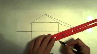 Part 1 - How to draw a cabin in the woods decorated for the