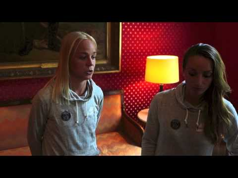 PSG-spelarna Caroline Seger & Kosovare Asllani på franska residenset