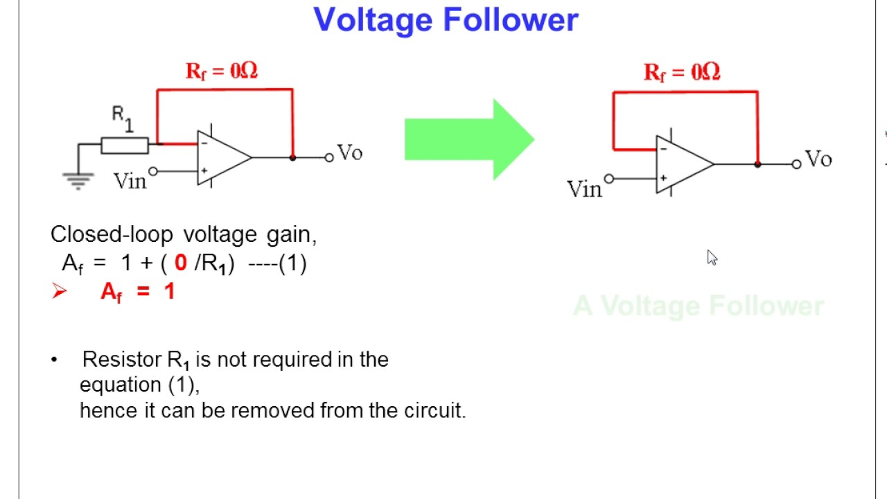 circuit diagram voltage follower images