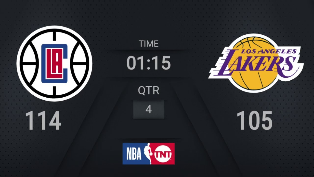 Clippers @ Lakers | NBA on TNT Live Scoreboard | #KiaTipOff20