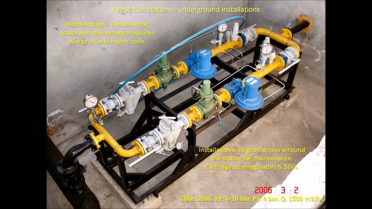 Natural Gas Pressure Reducing Station Design