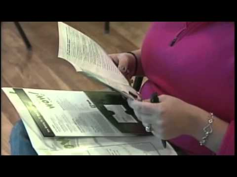 Job seekers check out TD Bank job fair