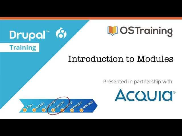 Drupal 8 Beginner, Lesson 43: Introduction to Modules