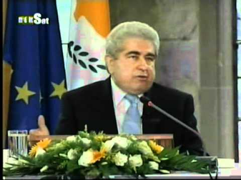 Cyprus President Christofias - Press Conference 8th Juy 2008