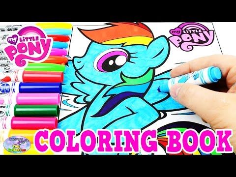 Thumbnail: My Little Pony Coloring Book MLP Rainbow Dash Colors Episode Surprise Egg and Toy Collector SETC