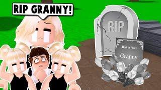 OUR GRANDMA DIED SO WE HAD A FUNERAL ON BLOXBURG! (Roblox)
