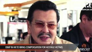 Erap in HK to bring compensation for hostage victims
