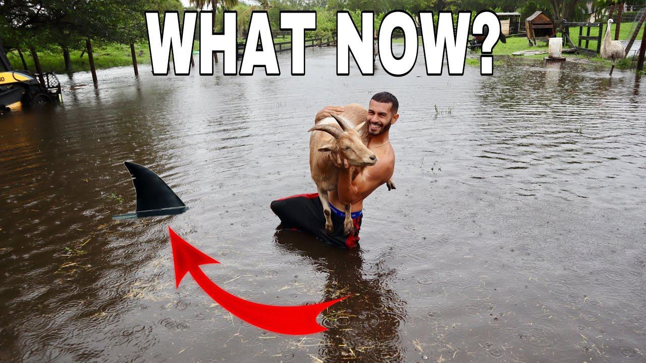 MY BACKYARD GOT DESTROYED! *FLOODING*