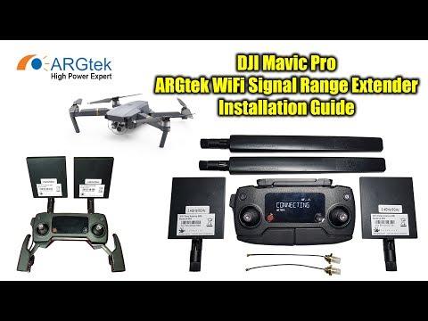 DJI Mavic Pro - ARGtek WiFi Signal Range Extender Kit Installation Guide