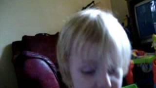 Aiden sleeping on the potty
