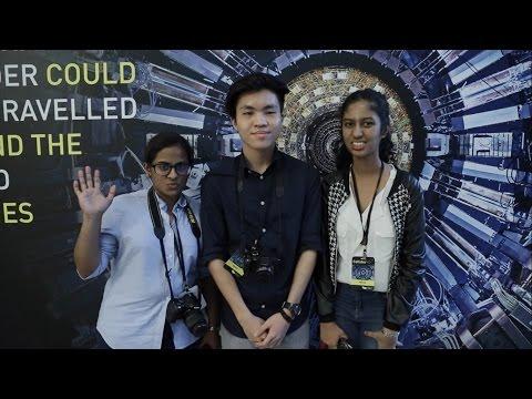 BRATs tour the Hadron Collider exhibition in Singapore