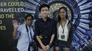 BRATs tour the Hadron Collider exhibition in Singapore