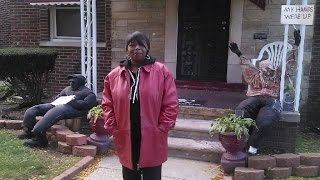 One Detroit woman's lawn is full of dummies for Halloween, but they...