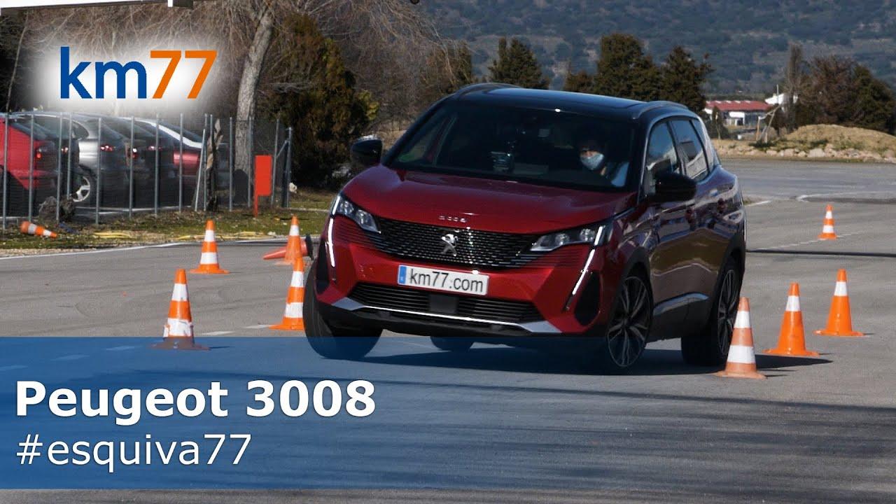 Peugeot 3008 2021 - Maniobra de esquiva y eslalon   km77.com