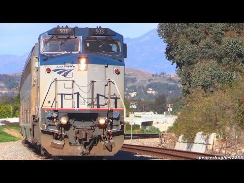 Thumbnail: AMTRAK Trains in Southern California (Winter 2016)