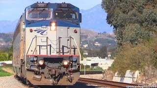 AMTRAK Trains in Southern California (Winter 2016)