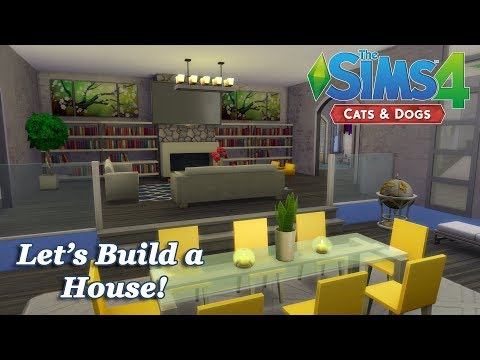 The Sims 4 - Let's Build a House with the Cats and Dogs EP (Part 5) Realtime