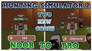 HUNTING SIMULATOR NOOB TO PRO - 1 MILLIARDEN COINS - REBIRTHING (OP) - 2 OVERPOWERED NEW CODES - Roblox