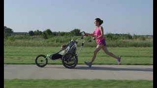 The JogAlong makes jogging with a stroller very easy