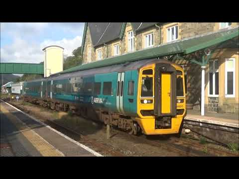 Class 158s at Machynlleth Aug 2017