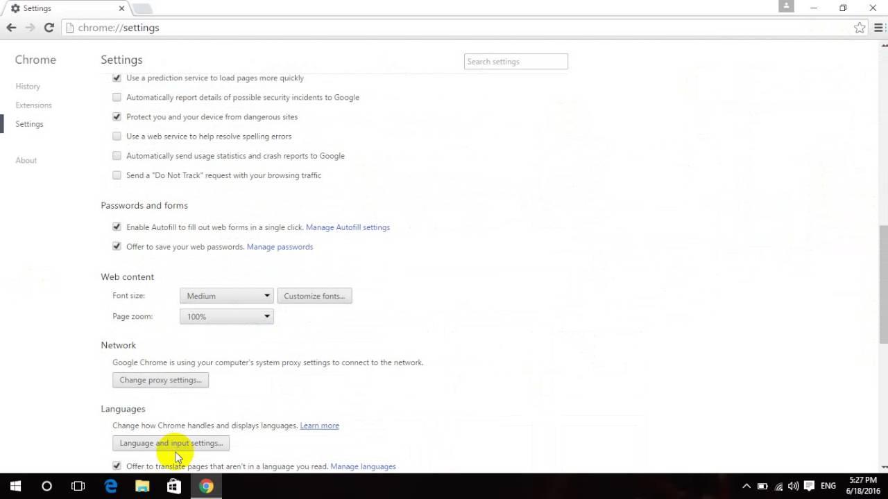 Cách Thay Đổi Ngôn Ngữ Trong Google Chrome