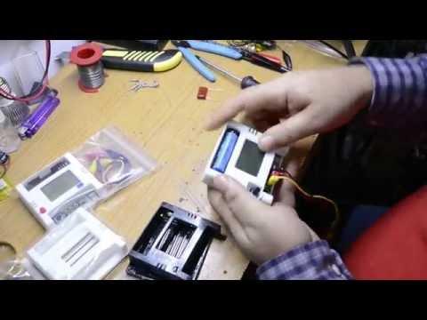 Calibracion ESR meter MG328 y las cajas nuevas impresas de Amiyoled