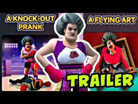 SCARY TEACHER 3D - A Knock Out Prank + A Flying Art - Fun In The Sun [Trailer] [Android - ios]