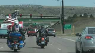 Patriot Guard Riders Escort Gold Star Family from Ft Carson to Nazarene Bible College Campus