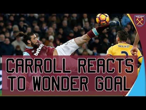 CARROLL REACTS TO WONDER GOAL 😳