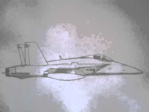 How To Draw A Easy Army Jet