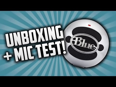 Blue Snowball iCE Unboxing + Mic Test!