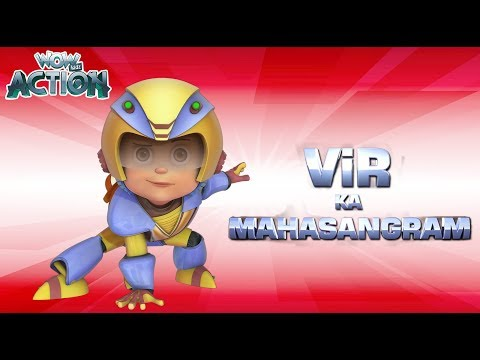 Vir The Robot Boy | Vir Ka Mahasangram | Full Movie | Cartoons For Kids | Wow Kidz Movies