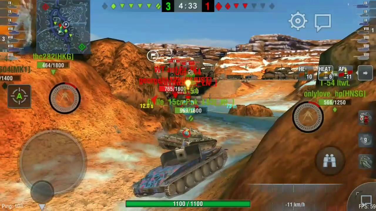 World Of Tanks Blitz Asia Agressive TD Gameplay (Jpanther II & Borsig)