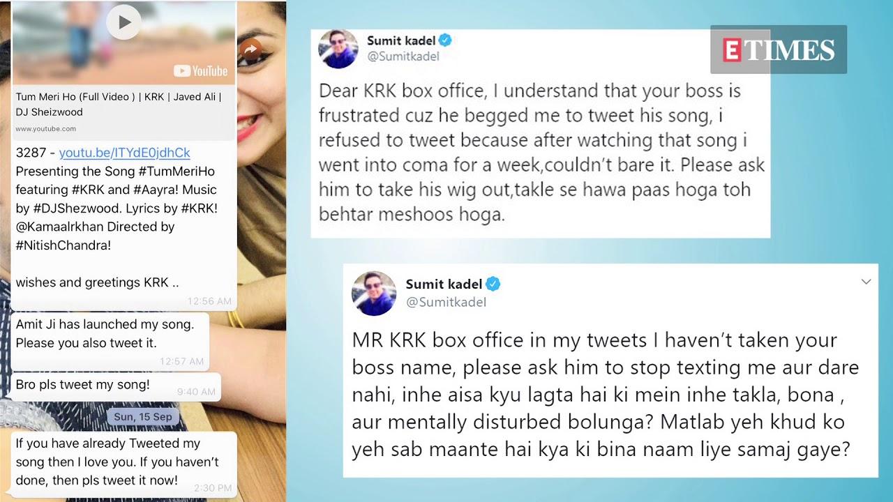 Kamaal R Khan Aka Krk Gets Exposed In An Ugly Twitter Spat With Two Critics Youtube Twitter takipçi ve beğeni alımı, twitter hesap alım ve satışı, trend topic hizmeti, twitter reklam hizmeti, otomatik rt ve beğeni gibi hizmetlerin yer aldığı bilgi, paylaşım ve alışveriş forumu. kamaal r khan aka krk gets exposed in an ugly twitter spat with two critics