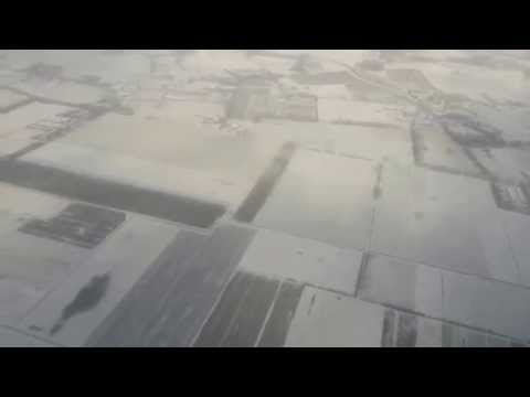 Hello, snowy Netherlands! (Flying over Eindhoven)