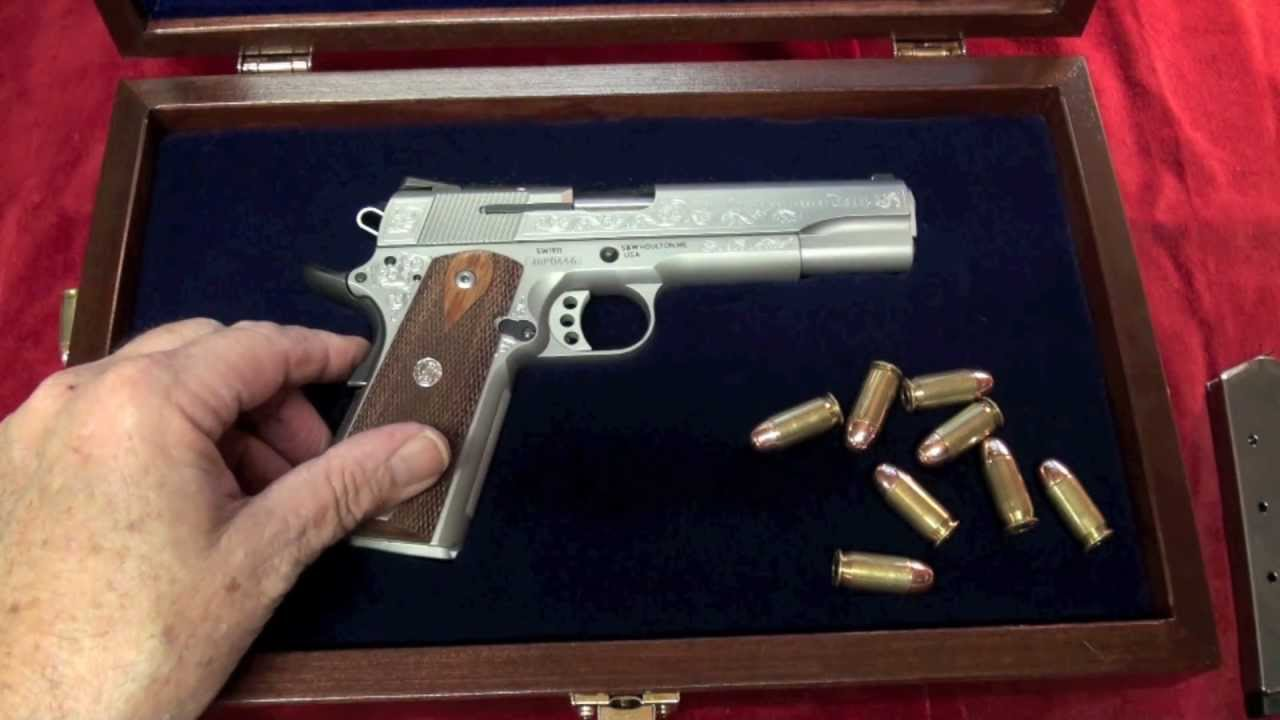 Shooting The S&W 1911 100th Anniversary .45ACP Pistol - YouTube