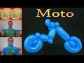 como hacer una moto con globos - globoflexia facil - motocicleta chopper chopera custom con globos
