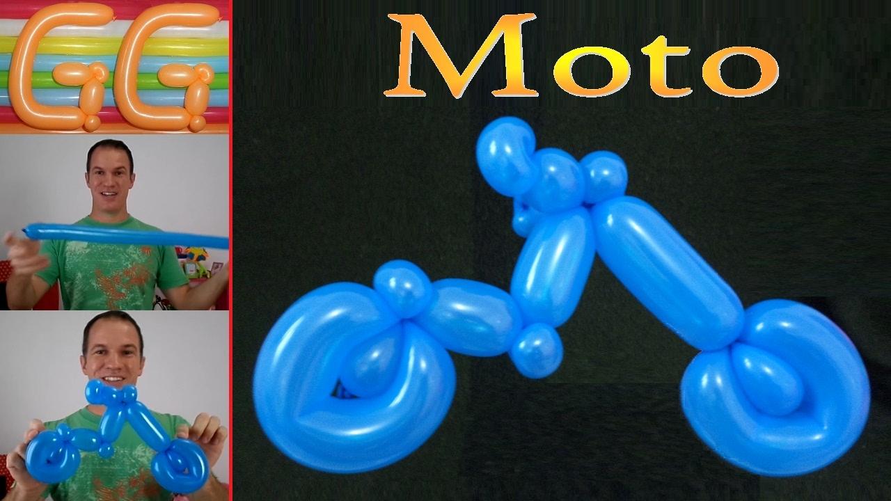 Como hacer una moto con globos globoflexia facil - Como hacer figuras con globos ...