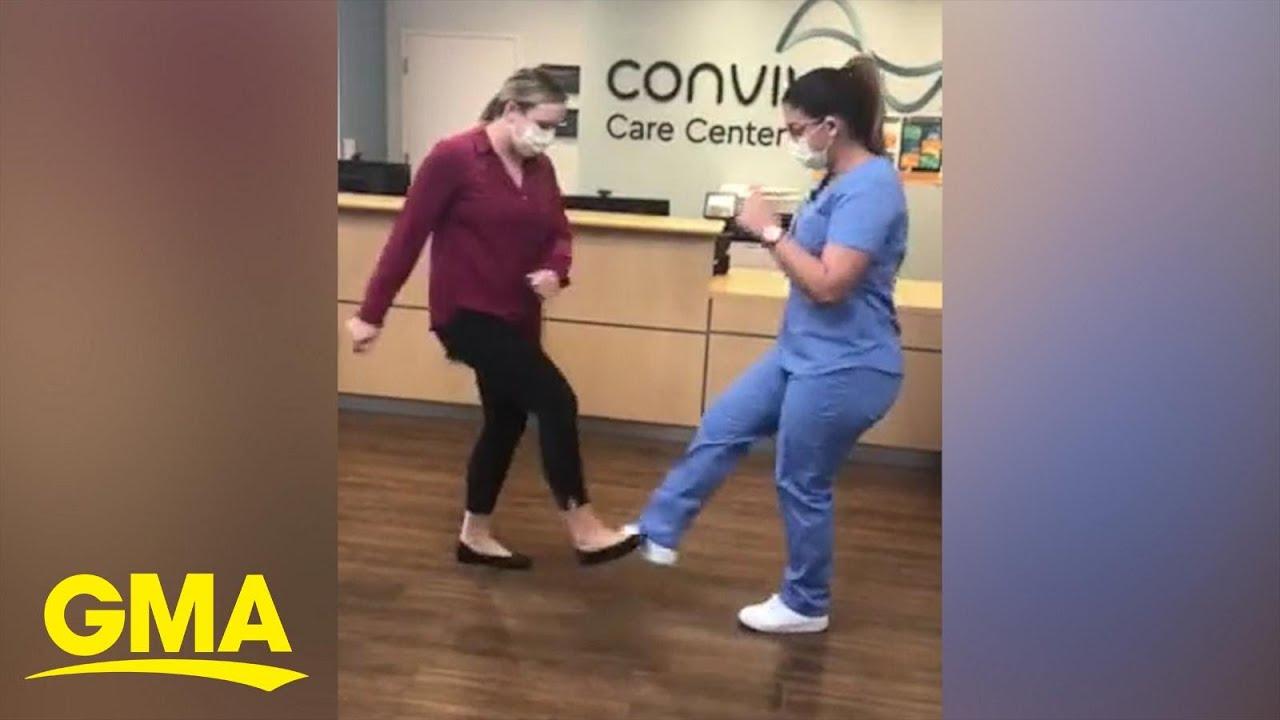 These Nurses Showed Off Their Version Of The Footshake Tiktok Challenge L Gma Digital Youtube